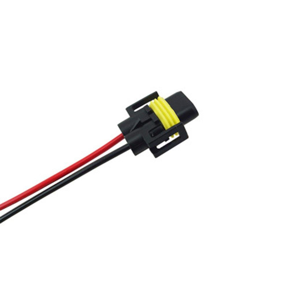 WINOMO 2pcs H11 Female Adapter Wiring Harness Sockets Wire for Headlights Fog Lights
