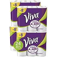 VIVA Choose-A-Sheet* Paper Towels, White, Big Plus Roll, 24 Rolls