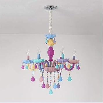 SHUGAO Macarons LED Kronleuchter Kinderzimmer Prinzessin Mädchen ...