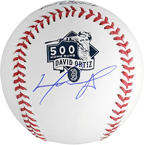 David Ortiz Boston Red Sox Autographed 500th Home Run Logo Baseball - Fanatics Authentic Certified - Autographed Baseballs