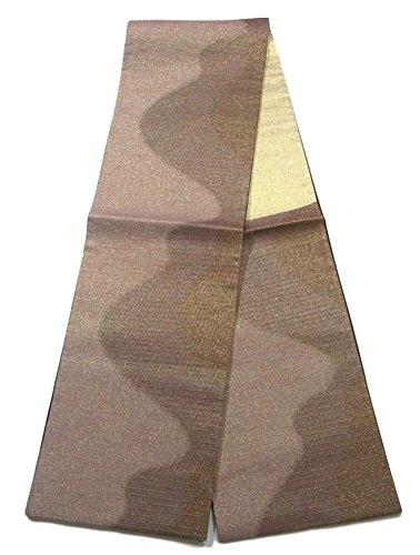学士肌原点リサイクル 袋帯  霞模様 正絹 六通
