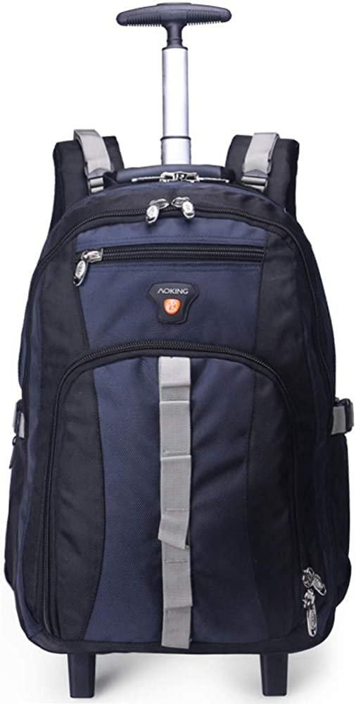 AOKING 20 22 Water Resistant Rolling Wheeled Backpack Laptop Compartment Bag