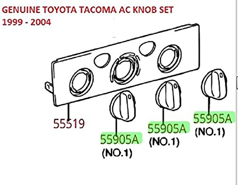 Amazon Genuine Toyota Taa Ac Knob Replacement Set 3 1999. Genuine Toyota Taa Ac Knob Replacement Set 3 1999 2004 5590535310. Toyota. Toyota Tacoma Heater Air Conditioner Diagram At Scoala.co
