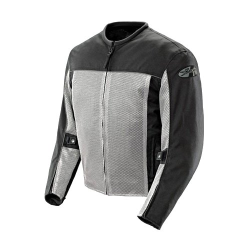 (Joe Rocket 'Velocity' Mens Grey/Black Mesh Motorcycle Jacket - Gray / 2X-Large)