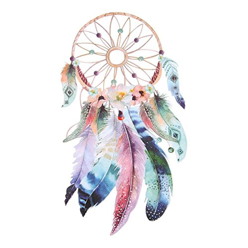 Anysell88 Iron-on Transfer Clothes Patches Stickers Heat Thermal Transfers for T Shirt Clothes 3D Dream Catcher Washable Printing Heat Transfer Sticker DIY Decoration (Feathers)