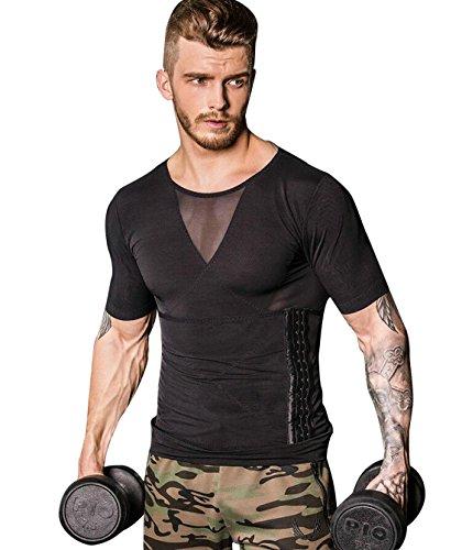 가압 셔츠 이너 새우등 복근 셔츠 가압복 가압 이너 맨즈 t셔츠 맨즈 반소매 배 긴축 Compression 웨어 근육트레이닝 트레이닝 셔츠 보정 속옷 다이어트 배 긴축 스포츠 웨어