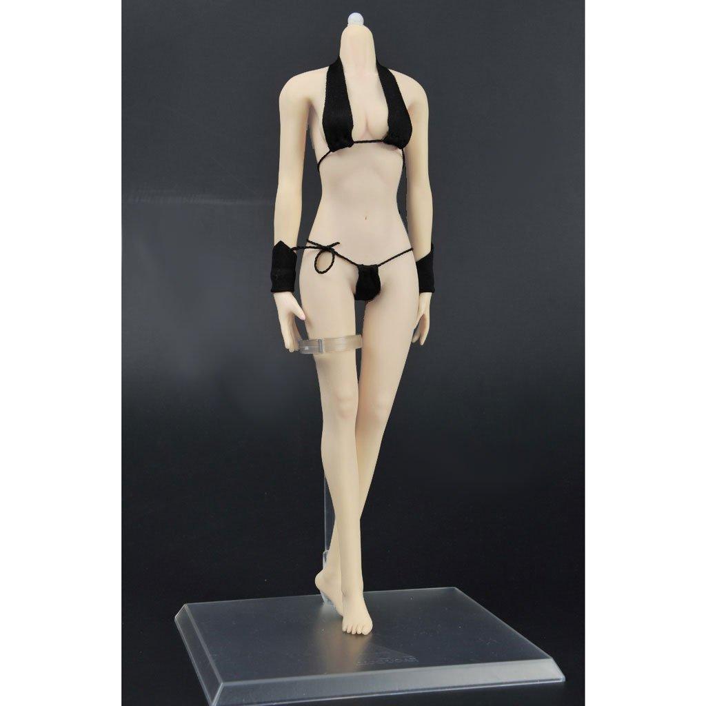 FLAMEER 1  6 Skala Super Flexible Weibliche Nahtlose Sculpt Körper + Sculpt Nahtlose Set für 12 Zoll Action Figuren 7fa8ce