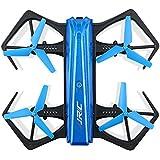 RameyStore JJR/C H43WH CRAB WIFI FPV 720P HD Camera Quadcopter Foldable G-sensor Mini RC Selfie Drone Blue