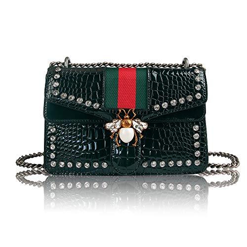 Beatfull Designer Shoulder Bag for Women, Fashion Bee Crossbody Bag Handbags with Chain (green)