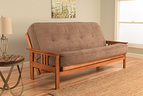 - Kodiak Furniture KFMOBBMMOCHLF5MD3 Monterey Futon Set with Barbados Finish, Full, Marmor Mocha