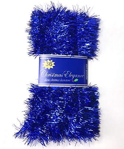 - Christmas Elegance 36 FT Christmas Garland Classic Christmas Decorations, Blue
