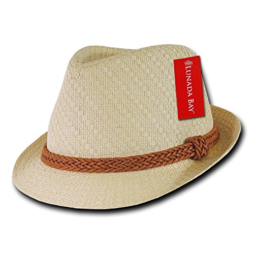 DECKY Paper Straw Fedora, Natural, Large/X-Large Decky Brands Group 557-PL-NAT-07