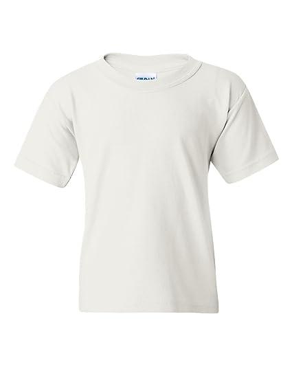 Gildan Camiseta con cuello Rojoondo de algodón para niños: Amazon.es: Ropa y accesorios