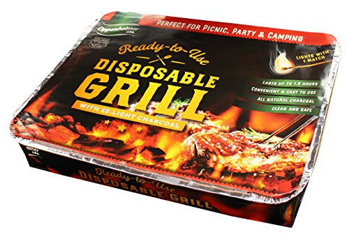 Disposable Charcoal Grill On-the-Go Ready to Use EZ To Light Kosher By Oppenheimer - Bbq Charcoal Light