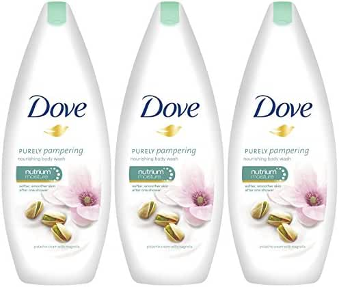Dove Purely Pampering Body Wash, Pistachio Cream with Magnolia, 16.9 Ounce / 500 Ml (Pack of 3)