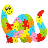 Delight eShop Kids Baby Wooden Animal Puzzle Numbers Alphabet Jigsaw Learning Educational Toy