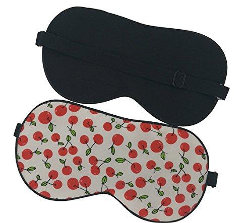(Maxfeel 100% Pure Silk Eye Mask Sleep Eye Mask Eye Cover Eyeshade Sleeping Eye Mask Printed Colors (#18))