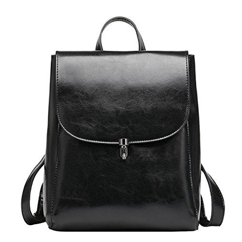 Yy.f Nuevas Bolsas De Hombro Bolsos De Cuero De Alta Calidad De Cuero Bolsas De Moda Mochilas Bolsa Multicolor Black