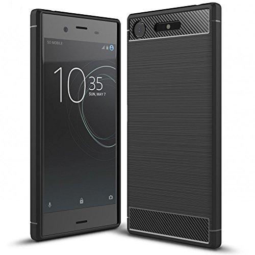 Sony Xperia XZ1 Silicone Case by NALIA, Ultra-Thin Protective Phone Cover Rubber-Case...