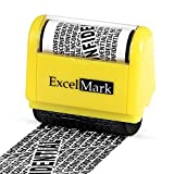 ExcelMark Wide Rolling Identity Theft Guard Stamp - Secure Identity Theft Protection