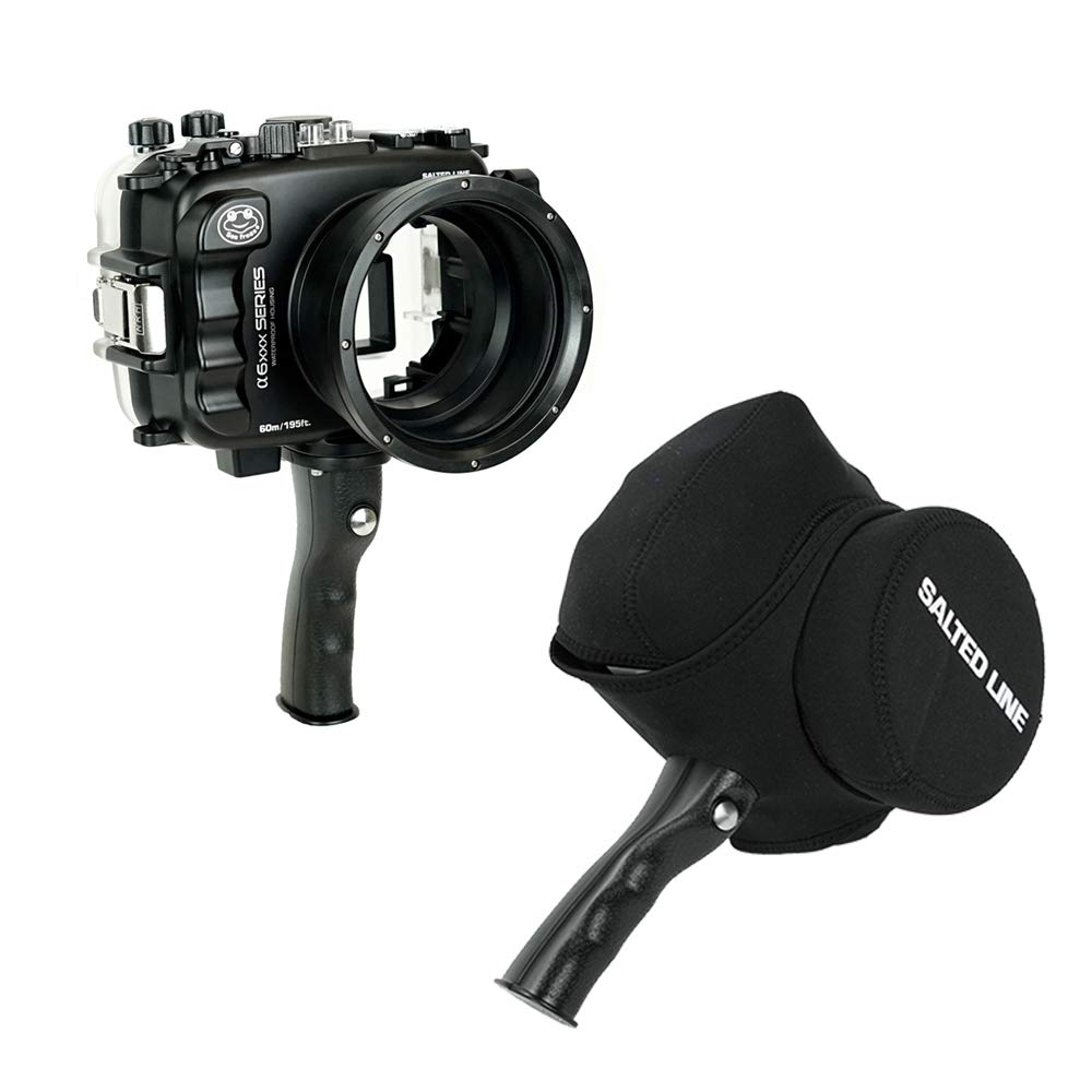 SeaFrogs 60M/195FT Waterproof housing A6xxx series Salted Line (Black) with pistol grip For Sony a6500 a6300 by KitDive (Image #2)