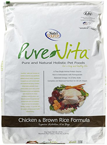 Tuffy'S Pet Food 131630 Tuffy Pure Vita Chicken And Brown Rice Dry Food For Dogs, 25-Pound ()
