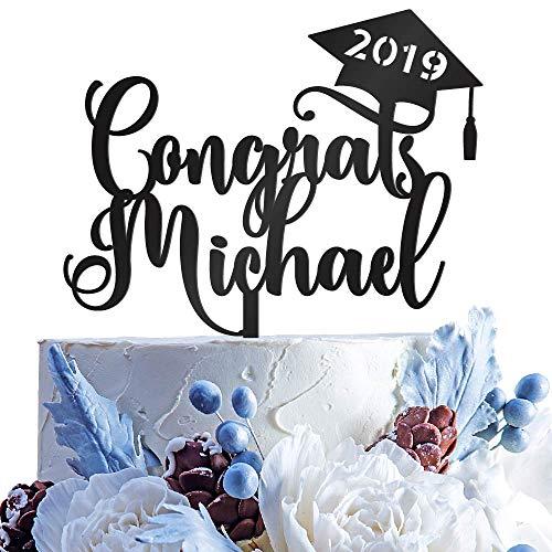 Personalized Congrats Grad Cake Topper | Acrylic Graduation Cake Toppers | Graduation Cake Decorations | Grad Party Decorations | Graduation Party Supplies - G3 ()