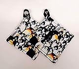 Penguin Potholder or hot pad set with hanging loop