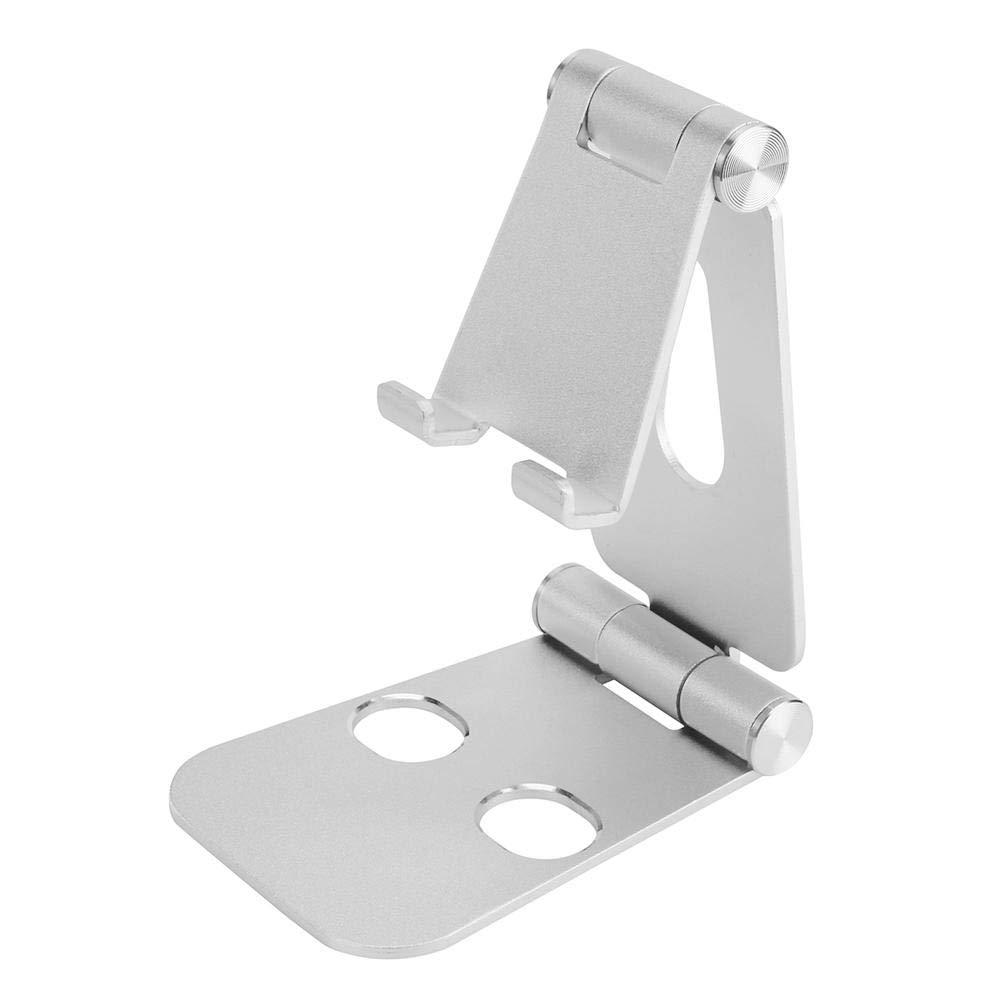 JUNERAIN Full Foldable Aluminum Alloy Universal Tablet Phone Holder Stand (Black) 2sq5xu2vd3vd2wd6D01