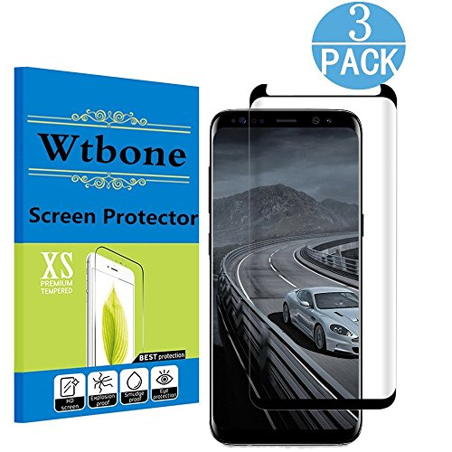 [3-Pack] Samsung Galaxy S8 Screen Protector , Linboll [No Bubble][Case-Friendly][3D coverage] PET HD Screen Protector Film for Samsung Galaxy S8 - Cover More Sim