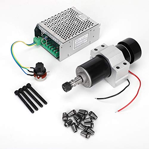 Motor Governor Set, AC110-220V CNC 500W Air Cooling Spindle Motor + 52mm Clamps + Speed Governor + ER11 Collet (Reliable Electric Dc 2 Variable Speed Motor Controller)