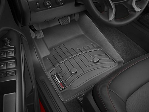 2015-2016 GMC Canyon (Extended Cab) Weathertech Black Floor Liners-Full Set