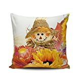 SALLEING Custom Fashion Home Decor Pillowcase Autumn Scarecrow Season Square Throw Pillow Cover Cushion Case 20x20 Inches One Sided Print