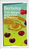 Trois dialogues entre hylas et philonous par Berkeley