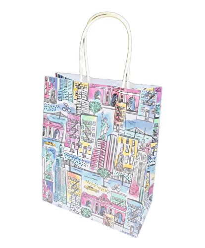 Destination City Themed Novelty Party Gift Bag 12.75 x 10.5 x 5 (New York)