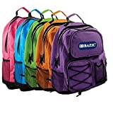 Bazic 17-Inch Odyssey Bright Assorted Color Backpack, Case of 20 (1009-20)