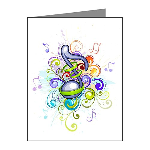 Note Card Music Note Colorful Burst