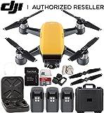 DJI Spark Portable Mini Drone Quadcopter Water Proof Hard Case Ultimate Bundle (Sunrise Yellow)
