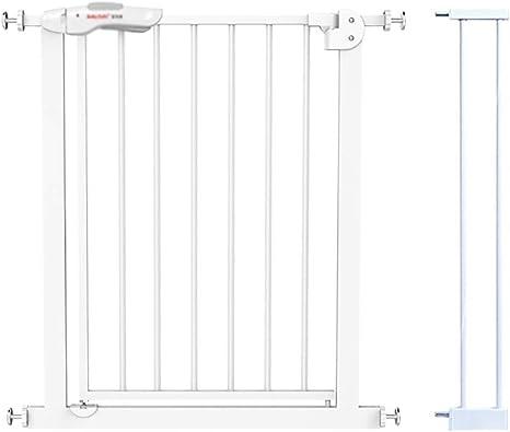 L.TSA Puertas de Seguridad Instalación fácil Puerta para bebé de Metal Metal, Puerta de Escalera con Ajuste de presión del Eje con extensión, 75-84cm, Blanco: Amazon.es: Deportes y aire libre