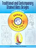 Traditional and Contemporary Stained Glass Designs, , 0486995976