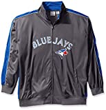 MLB Toronto Blue Jays Men's Team Reflective Tricot Track Jacket, 4X, Charcoal/Royal