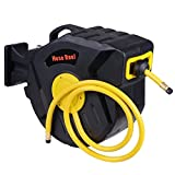 300 psi Air Compressor Hose Reel Auto Retractable Rewind Garage Tools 50ft X 3/8inch