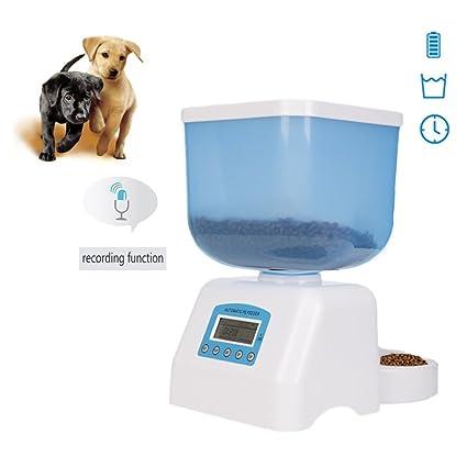 Dax-Hub ABS automático - Dispensador de comida para perros y gatos programable con depósito