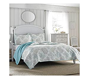 Laura Ashley Saltwater Quilt and Sham Set