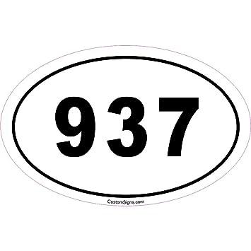 Amazoncom Area Code Bumper Sticker For Car Automotive - 937 area code