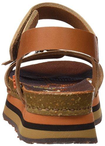 Kunst Damer 0459 Mojave Mykonos Sandaler Med Plateau Brun (multi Cuero) aGK3M8o