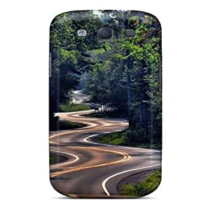 Shock Absorption Hard Phone Case For Samsung Galaxy S3 With Allow Personal Design High Resolution Winding Road Nature Pattern Hardcase88