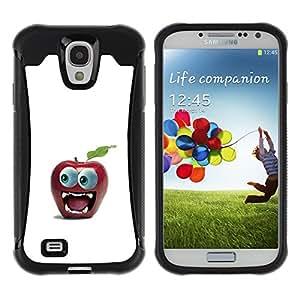 Pulsar Defender Series Tpu silicona Carcasa Funda Case para SAMSUNG Galaxy S4 IV / i9500 / i9515 / i9505G / SGH-i337 , Funny Big Eye Apple