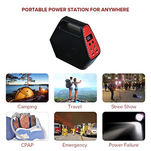 110 V AC// 12 V DC//USB Output ELENKER 146 Wh Portable Camping Generator with 40000 mAh Battery Pack