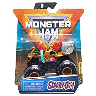 Monster Jam 2020 Spin Master 1:64 Diecast Monster Truck with Wristband: Ruff Crowd Scooby-Doo